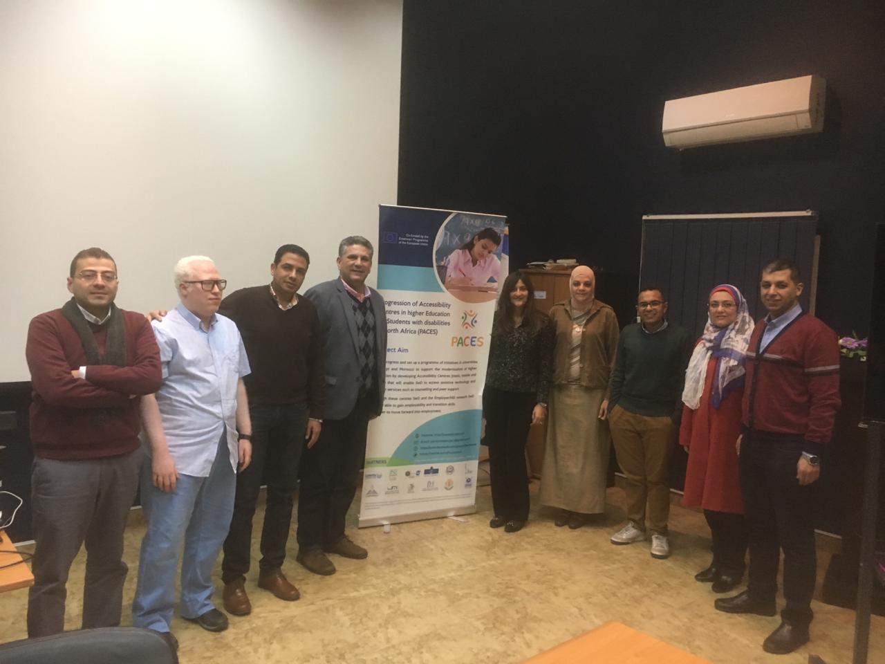 زيارة المتابعة التي قام بها المكتب الوطني لإراسموس في جامعة عين شمس ، مصر